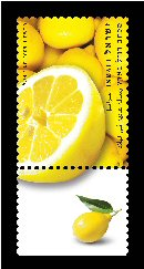 Stamp:Lemon (Fruits of Israel - definitive stamps), designer:Meir Eshel 02/2009