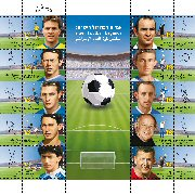 Stamp:Israeli Football Legends, designer:Ofir Begun, Meir Eshel 12/2011