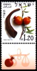 Stamp:Tishrei (The Months of the Year), designer:Miri Sofer 02/2002