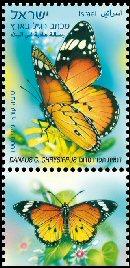Stamp:Butterflies of Israel, designer:Tuvia Kurtz, Miri Nistor 04/2011