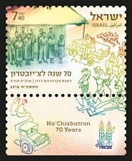 Ha'Chizbatron – 70 Years Stamp Sheet